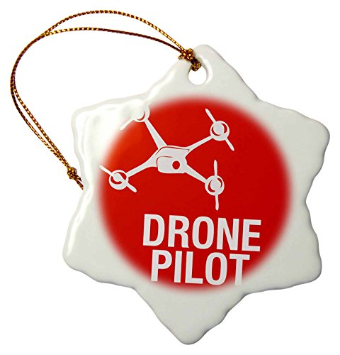 3dRose Red Drone Words Pilot