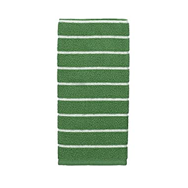 Kate Spade Grosgrain Stripe Kitchen Towel, 17 x 28 , Picnic Green