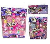 Shopkins season 7 Gift Bundle - 12 Pack, 5 Pack, 2 Pack, Including Blizy Flashlight Keychain