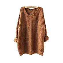 ARJOSA Women's Cable Knit Oversized Crewneck Casual Pullovers Sweaters Tops