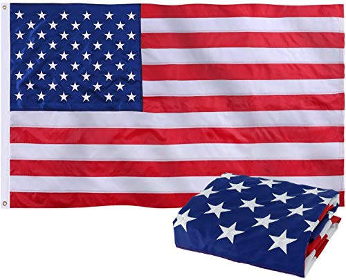 Jetlifee American Flag - Outdoor SolarMax Nylon USA Flag, Longest Lasting, US Flag with Sewn Stripes, Embroidered Stars and Brass Grommets