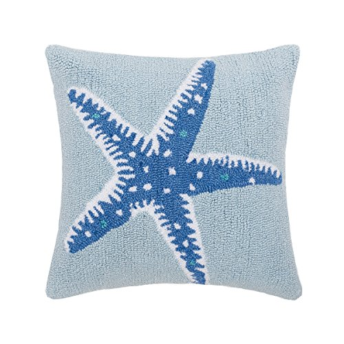 C F Home Starfish Hooked Pillow Pillow 18×18 Starfish
