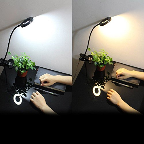 Mofek Clip on Light, Portable Eye-Care Desk Lamp, USB Plug Night Light Clip on for Desk, Headboard and Computers, Bedside Reading Light by Mofek (Image #3)
