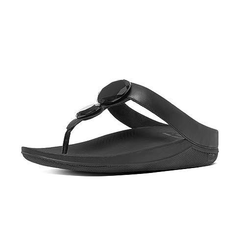 2c1336341 Fitflop Women s Luna Pop T-Bar Sandals  Amazon.co.uk  Shoes   Bags