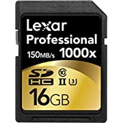 Amazon Lightning Deal 85% claimed: Lexar Professional 1000x 16GB SDHC UHS-II Card LSD16GCRBNA10002 - 2 Pack
