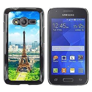 Be Good Phone Accessory // Dura Cáscara cubierta Protectora Caso Carcasa Funda de Protección para Samsung Galaxy Ace 4 G313 SM-G313F // Paris Eiffel Tower