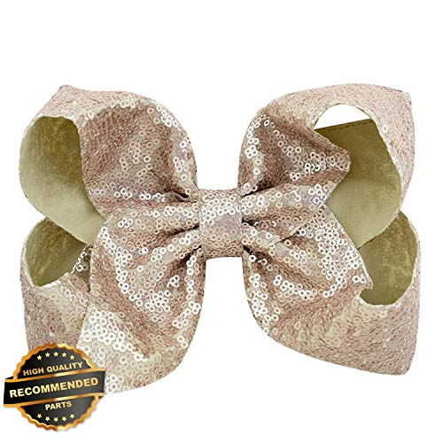 Gatton Premium New Girls 8 inch Big Large Bow Sequin Alligator Hair Clips Headwear Hair Accessories | Style HRCL-M182012637 for $<!--$6.45-->