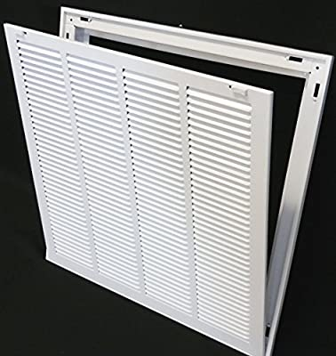 """20"""" X 20 Steel Return Air Filter Grille for 1"""" Filter - Removable Face/Door - HVAC DUCT COVER - Flat Stamped Face -"""