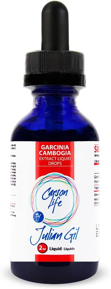 CARSON LIFE Garcinia Cambogia Extract Drops by Julian Gil - 2 Oz - Weight Loss, Carb Blocker Product - Burn Fat and Slim Your Body – Promote Healthy Digestion - Supplement Made in The USA