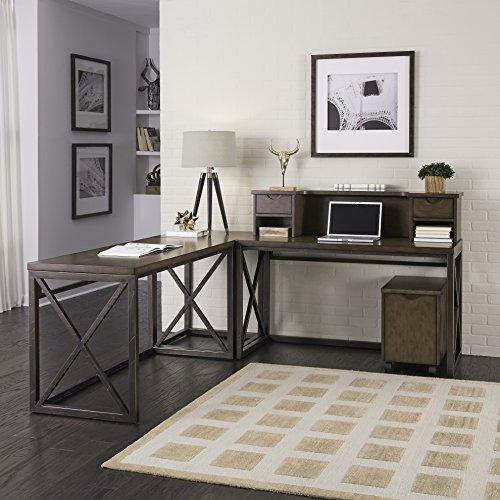 Ensembles Veneer Furniture (Home Styles 5079-15271 Xcel Home Office 5 Piece Ensemble)