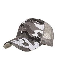 Kimloog Baseball Caps, Camouflage Low Profile Mesh Trucker Hats for Men Women