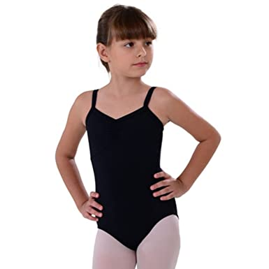 dce31d7ec Amazon.com  So Danca Black Camisole Rhinestone Dance Leotard Little ...