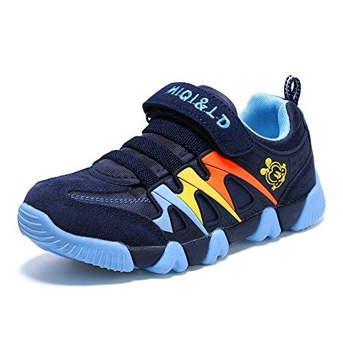 Bruce Lin Unisex Enfants Chaussures de Course Running Sport Respirant Mesh Sneakers Sports de Plein air Antidérapant Gymnastique Sneakers A53-bleu Foncé 02 mevwiiiki