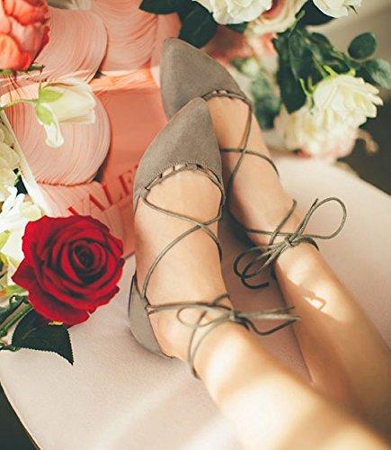 Versión coreana de zapatos de las mujeres en el verano/Asakuchi sandalias de tiras/Zapatos planos/Moda zapatos puntiagudos B
