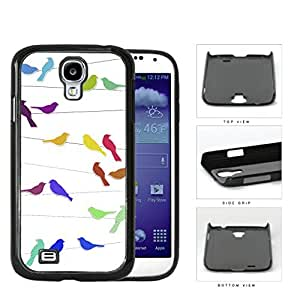 Birds On Wire Multicolor Hard Plastic Snap On Cell Phone Case Samsung Galaxy S4 SIV I9500