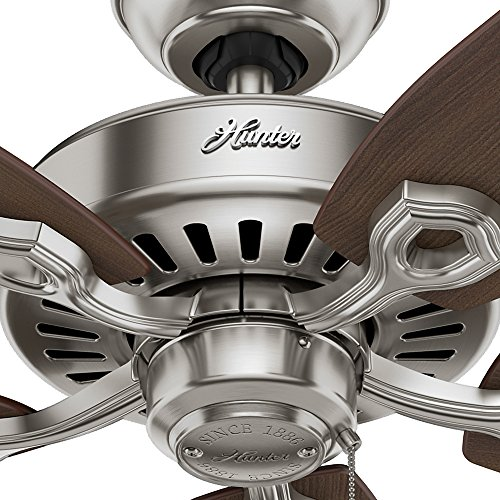 Hunter 53241 Builder Elite 52-inch Brushed Nickel Ceiling Fan with Five Brazilian Cherry/Harvest Mahogany Blades by Hunter Fan Company (Image #7)'