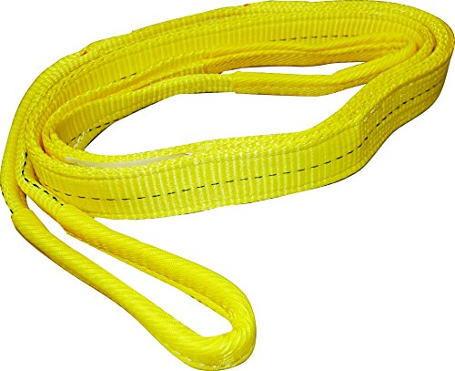 S-Line by Ancra 20-EE2-9802X8 S-Line Eye Twisted Web Lifting Sling, 2 in W X 8 Ft L, 2-Ply, Loop End, - Web 2 Inch Polyester