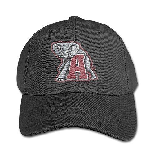 WH&SY Alabama Elephant Logo Children Unisex Adjustable Pure 100% Cotton Peaked Cap Baseball Hunting Cap Snapback Hats Black