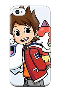 Flexible Tpu Back Case Cover For Iphone 4/4s - Youkai Watch Dance Sending Free Screen Protector