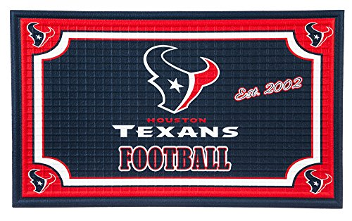 Team Sports America 41EM3812 Houston Texans Embossed Door Mat