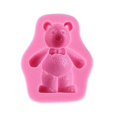 Molde de silicona con forma de oso para fondant de WDYJMALL – Oso