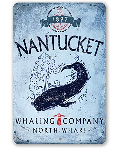 Whaling Boat (Metal Sign - Cape Cod Whaling Company Metal Sign - Durable Metal Sign - 8