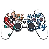 Happy 4th of July Quote Cute Girl on Firework American Flag Image Design Pattern PS3 Dual Shock wireless controller Vinyl Decal Sticker Skin by Trendy Accessories