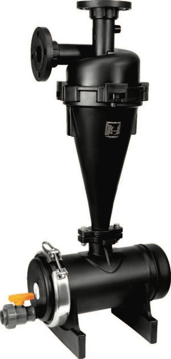 IrrigationKing RKHC225 Plastic Hydrocyclone Sand Separator, 110 GPM, 2''