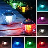 Tubwair Solar Floating Light for Pool Pond Waterproof ABS Plastic with Color Changing LED Solar Light Globe Night Light Lamp Garden Swimming Pool Party Home Decor