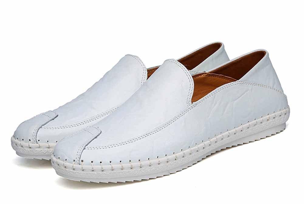 GLSHI Männer Freizeitschuhe Komfortable Loafer Leichte Wanderschuhe Low Top Handmade Schuhe