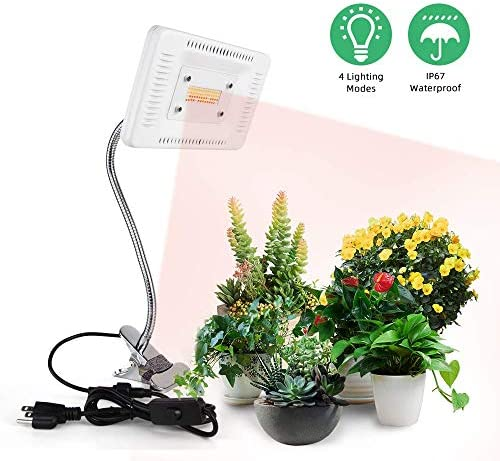 LED Plant Grow Light, FECiDA Professional 100W Sunlike Full Spectrum Adjustable Gooseneck Grow Lamp with Stand, 4 Switch Models Cycle for Indoor Plants Bonsai, Succulents, Tomato, Orchid, Vegetables