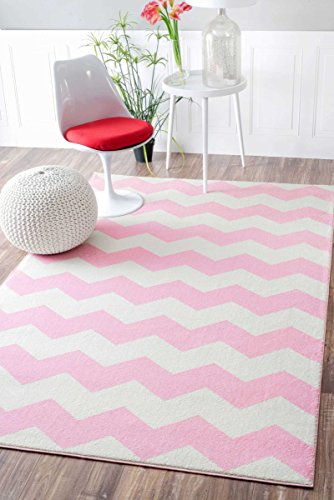 Geometric Chevron Vibe Zebra Kids Area Rug