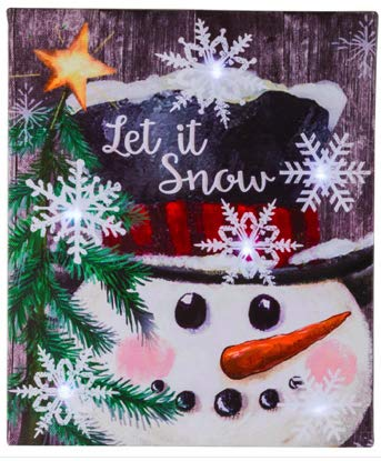 """Christmas Light Up Canvas Wall Art 