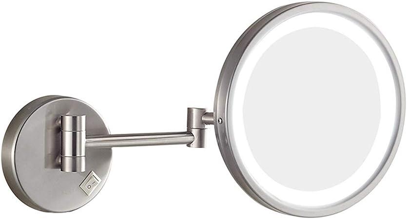 Miroir Grossissant Miroir De Maquillage Led Pour Salle De Bains A