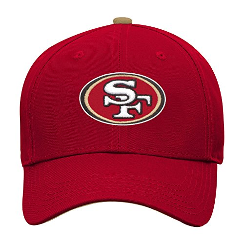 NFL by Outerstuff NFL San Francisco 49ers Youth Boys Basic Structured Adjustable Hat Crimson, Youth One Size by NFL by Outerstuff