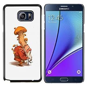 """Be-Star Único Patrón Plástico Duro Fundas Cover Cubre Hard Case Cover Para Samsung Galaxy Note5 / N920 ( Mushroom gnomo enano hada del bosque Naturaleza"""" )"""