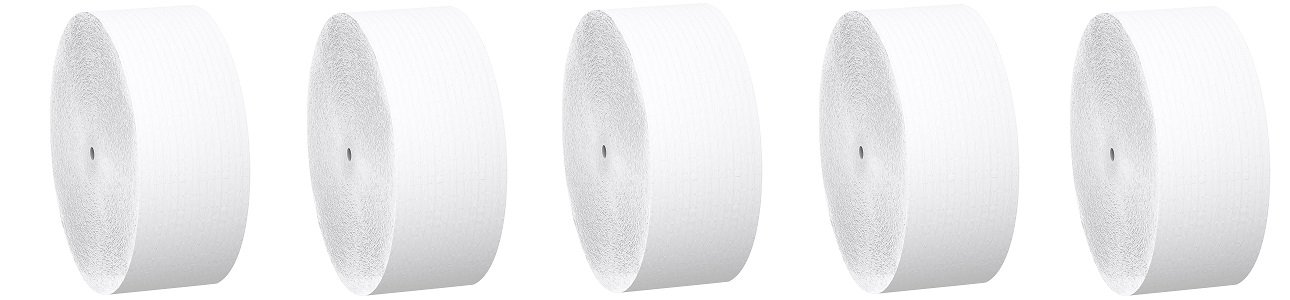 Scott Jumbo Roll JR. Coreless Toilet Paper (07005), 2-PLY, White, 12 Rolls / Case, 2,300' / Roll (5-(12 Rolls / Case))