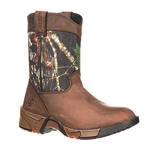 - Rocky Unisex FQ0003639 Mid Calf Boot, Mossy Oak Break up Infinity Camouflage, 7 M US Big Kid