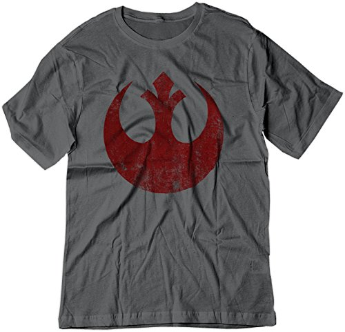 BSW Men's Star Wars Rebel Alliance Starbird Insignia Phoenix Shirt 3XL Charcoal