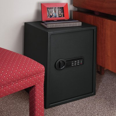 Electronic Metal Lock Security Safe with 2 back-up keys,Black