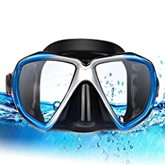 Specification: Material: silicone for mask skirt, PC for frame, tempered glass for lens, PE for anti-fogging coating Diving mask weight: 210g/0.46 lb. Main Features:  diving mask keep people safe  Anti fog, anti scratch, anti UV lenses  Shatt...