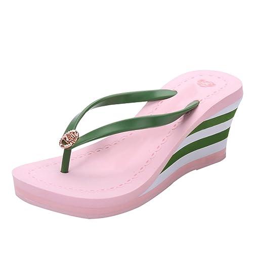 A Flip Sandali Piattaforma Donna Zeppa Infradito Linnuo Strisce Flop CqAwvgHX
