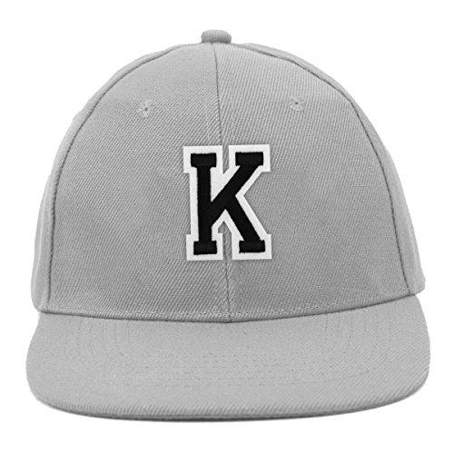 Varsity Letter K Initial Promotional Solid Blank Embroidered Baseball - Letter Velcro