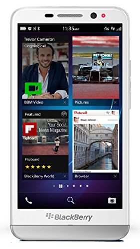 BlackBerry Z30 STA100-2 16GB Unlocked GSM 4G LTE 5-inch Super AMOLED Touchscreen Smartphone - Pure White