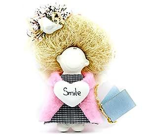 Duvo Dolls Handmade Angel Refrigerator Magnet, Pink