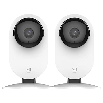 YI 2pc Home Camera, 1080p WiFi IP Security Surveillance System with 24/7  Emergency Response, Free Motion Alerts, Night Vision, Baby Monitor on iOS,