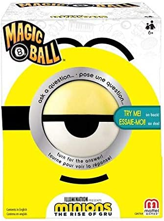 Minions: Magic 8 Ball Featuring Illumination's Minions: The Rise of Gru, Fortune Telling Toy with Minions Movie Theme for 6 Year Olds and Up