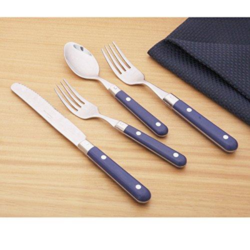 - Ginkgo Le Prix 20-piece Royal Blue Flatware Set