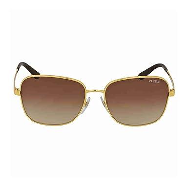 0da1f27d59a8d7 Vogue Lunettes de soleil femme VO4036SI GOLD BROWN  Amazon.fr ...