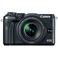Canon EOS M6 Mirrorless Digital Camera Black Kit with EF-M 18-150mm f/3.5-6.3 IS STM Lens - With Canon Connect Station CS100